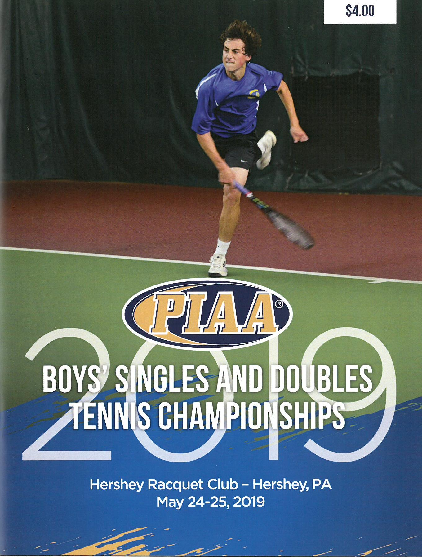 2018 Boys' Singles and Doubles Tennis Championship Program